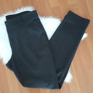 Chico's charcoal gray pull on pants size 2 (12)
